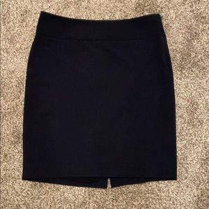 Navy pencil skirt / suit skirt - The Limited